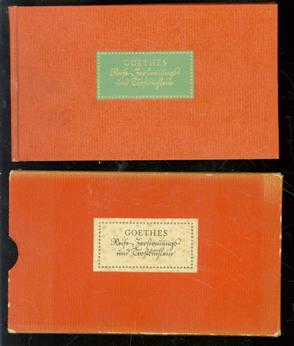 Reise-Zerstreuungs- und Trost-Buchlein vom September 1806 bi� dahin 1807, Ihro der Prinze� Caroline von Weimar Durchl. unterthänigst gewiedmet von Goethe