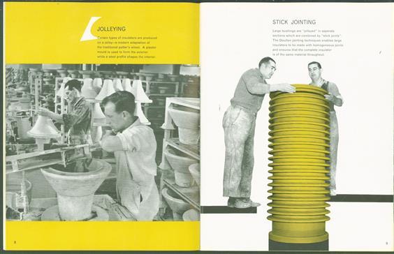 (BEDRIJF CATALOGUS - TRADE CATALOGUE) Making porcelain insulators.