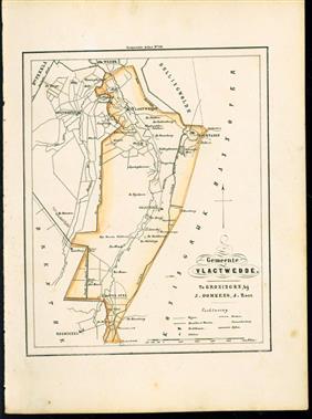 (GEMEENTE KAART - MUNICIPALITY MAP) - Vlagtwedde