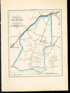 (GEMEENTE KAART - MUNICIPALITY MAP) - Wedde