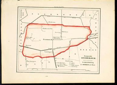 (GEMEENTE KAART - MUNICIPALITY MAP) - Zuidbroek