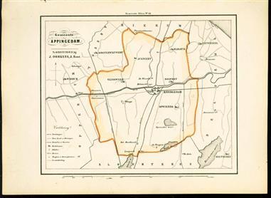 (GEMEENTE KAART - MUNICIPALITY MAP) - Appingedam