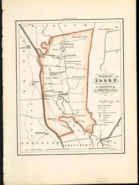 (GEMEENTE KAART - MUNICIPALITY MAP) - Adorp