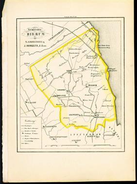 (GEMEENTE KAART - MUNICIPALITY MAP) - Bierum