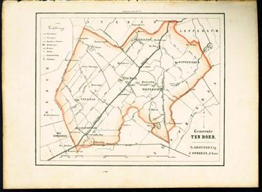 (GEMEENTE KAART - MUNICIPALITY MAP) - Ten Boer