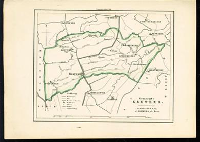 (GEMEENTE KAART - MUNICIPALITY MAP) - Kantens