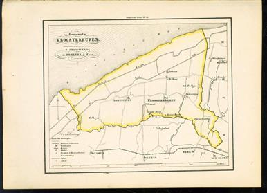 (GEMEENTE KAART - MUNICIPALITY MAP) - Kloosterburen