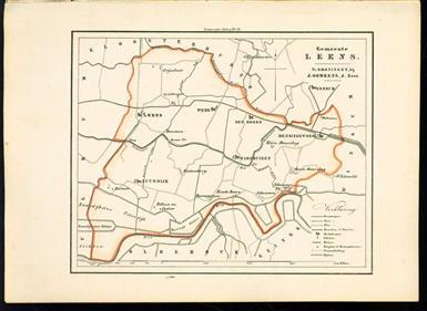 (GEMEENTE KAART - MUNICIPALITY MAP) - Leens