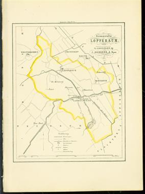 (GEMEENTE KAART - MUNICIPALITY MAP) - Loppersum
