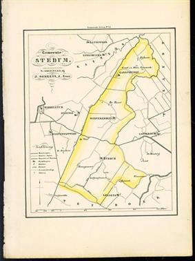 (GEMEENTE KAART - MUNICIPALITY MAP) - Stedum