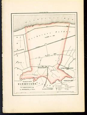 (GEMEENTE KAART - MUNICIPALITY MAP) - Uithuizen