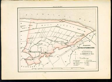 (GEMEENTE KAART - MUNICIPALITY MAP) - Uithuistermeeden