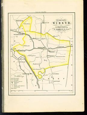 (GEMEENTE KAART - MUNICIPALITY MAP) - Winsum