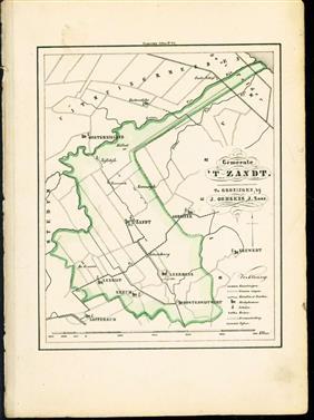 (GEMEENTE KAART - MUNICIPALITY MAP) - 'T Zandt